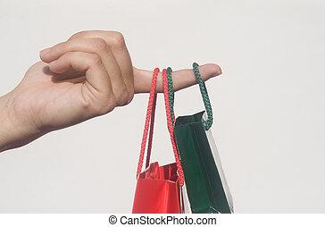zakken, shoppen , hand