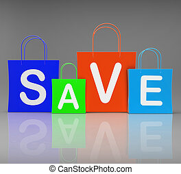 zakken, shoppen , tonen, promo, sparen, aankoop