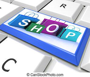 zakken, shoppen , tonen, winkel, klee, detailhandel, aankoop