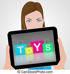 zakken, vertoningen, speelgoed, shoppen , detailhandel, aankoop