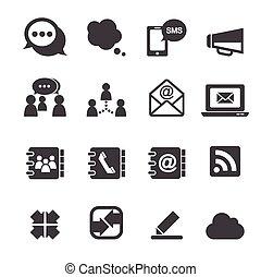 zakomunikowanie ikona