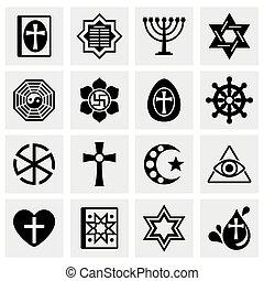 zakon, wektor, komplet, ikona