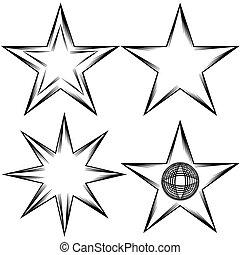 zakrętas, komplet, gwiazda