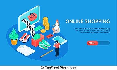 zakupy, chorągiew, online