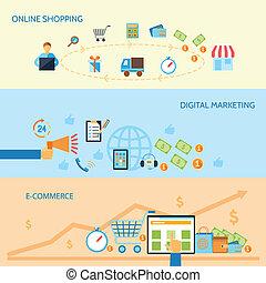 zakupy, e-handel, chorągiew