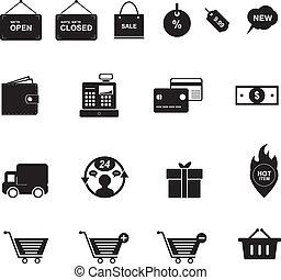 zakupy, ikona