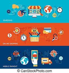 zakupy, komplet, chorągiew, online