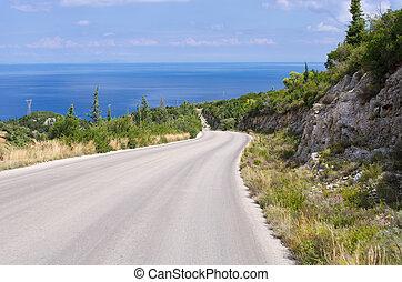 zakynthos, 道, 島, ギリシャ