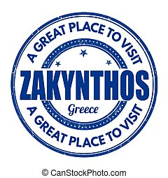 Zakynthos sign or stamp