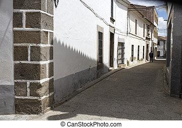 Zalamea de la Serena old town street