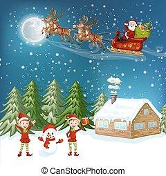 zalige kerst, card.