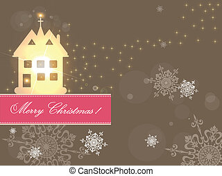 zalige kerst, kaart