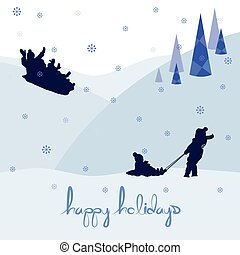 zalige kerst, vrolijke , feestdagen, landscape