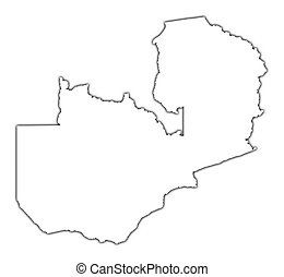 Zambia outline map