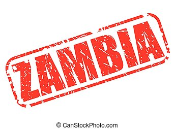 Zambia red stamp text on white