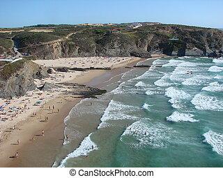 Zambujeira do mar - The beach in Zambujeira do Mar, in the ...