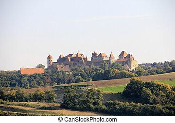 zamek, harburg, w, bawaria
