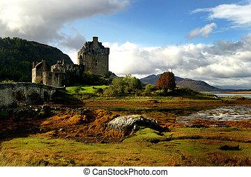 zamek, historyczny, szkocja
