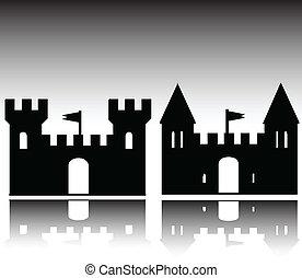 zamek, ilustracja