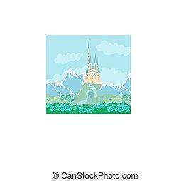 zamek, magia, fairytale, księżna