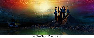 zamek, magiczny