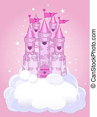 zamek, niebo