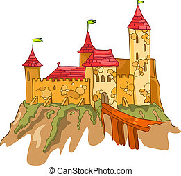 zamek, rysunek