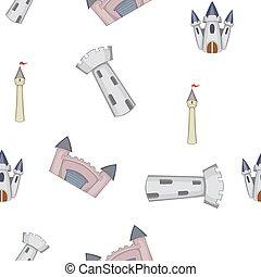 zamek, styl, próbka, rysunek