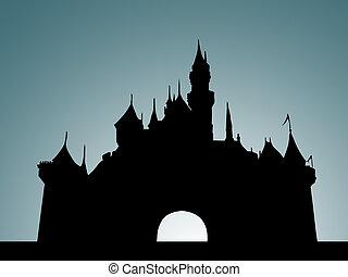 zamek, szary