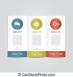 zameldować, infographic, template., wektor, illustration.