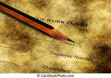 zameldować, krzywda, praca, kształt