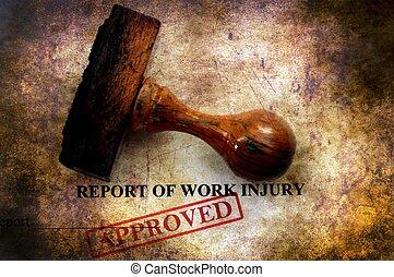 zameldować, krzywda, praca, zatwierdzony