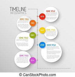 zameldować, timeline, infographic, szablon