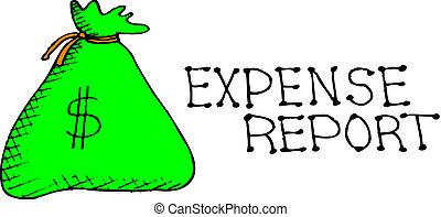 zameldować, wydatek