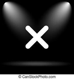 zamknięcie, ikona, x
