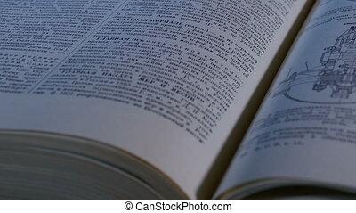 zamknięcie, książka, otwarty