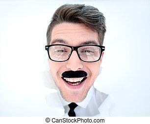 zamknięcie, okulary, up.businessman