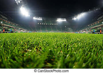 zamknięcie, trawa, do góry, stadion