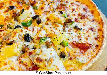 zamknięcie, włoski, do góry, pizza