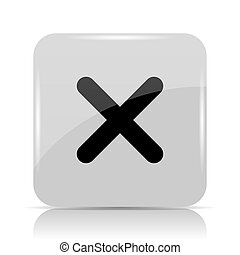 zamknięcie, x, ikona
