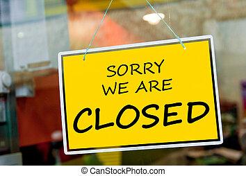 zamknięty znak