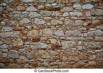 Zamora stone masonry wall detail