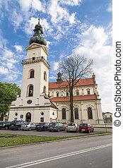 zamosc., 鐘, ポーランド, apostle., thomas, 大聖堂, 復活, タワー, st. 。