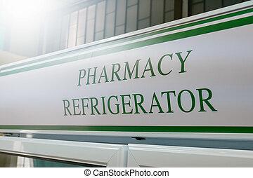 zamrażarki, chłodnie, do góry, apteka, lodówki, zamknięcie