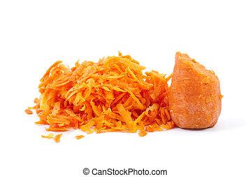 zanahoria, algunos, rallado, mitad