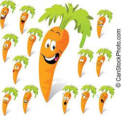 zanahoria, caricatura