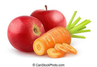 zanahoria, manzana
