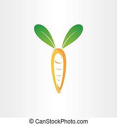 zanahoria, verde, orejas de conejo