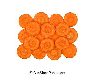 zanahorias rebanadas, discos