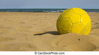 zand, bal, gele